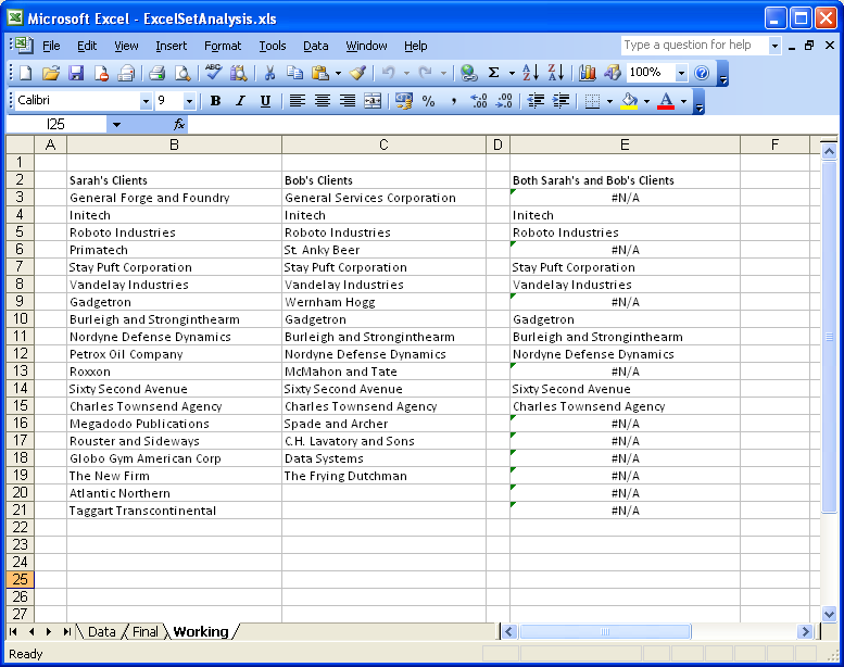 Excel using vlookup function